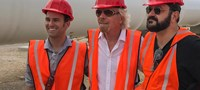 Representatives from Hyperloop One and Richard Branson