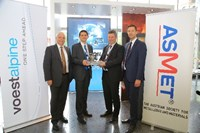 voestalpine-Management with Ronald Schnitzer, winner of the Steel Research Award