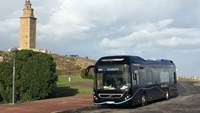 Volvo's hybrid bus runs entirely without exhaust emissions at low speeds and at standstill at bus stops