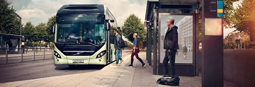 Volvo's electric hybrid bus