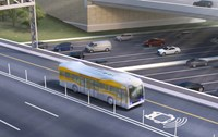 Rendering courtesy of AECOM. Depiction of full-sized, full-speed bus