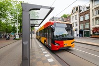 Impression of a VDL Citea SLFA Electric with exterior design of Arriva Danmark A/S