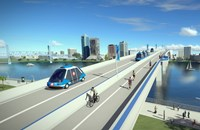 Jacksonville Transportation Authority rendering of skyway with automated vehicles