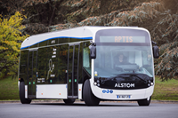 Aptis, Alstom's e-bus, is official vehicle for European EV Congress