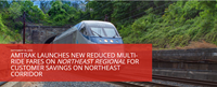 Amtrak launches new reduced multi-ride fares in Northeast region