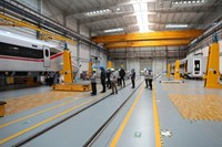 CR400AF high-speed train in BST workshop