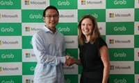 Ming Maa, President of Grab and Peggy Johnson, Executive Vice President of Business Development, Microsoft